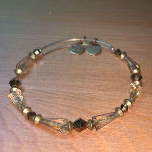 Gold beaded Alex and Ani bracelet